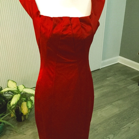 The Limited Dresses & Skirts - Classy Glam Red Satin Dress - the limited